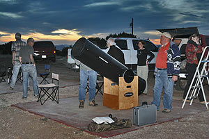 A large telescope at the 1st Annual Alpine Star Party